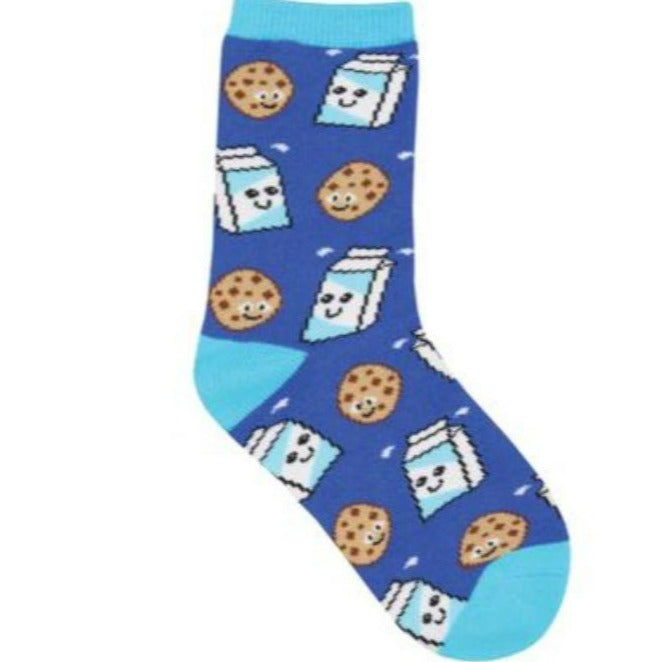 cookies-milk-socks-crew-socks-for-children