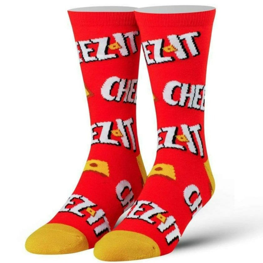 Keep It Cheesy Cheez Its Men's Crew Sock Red