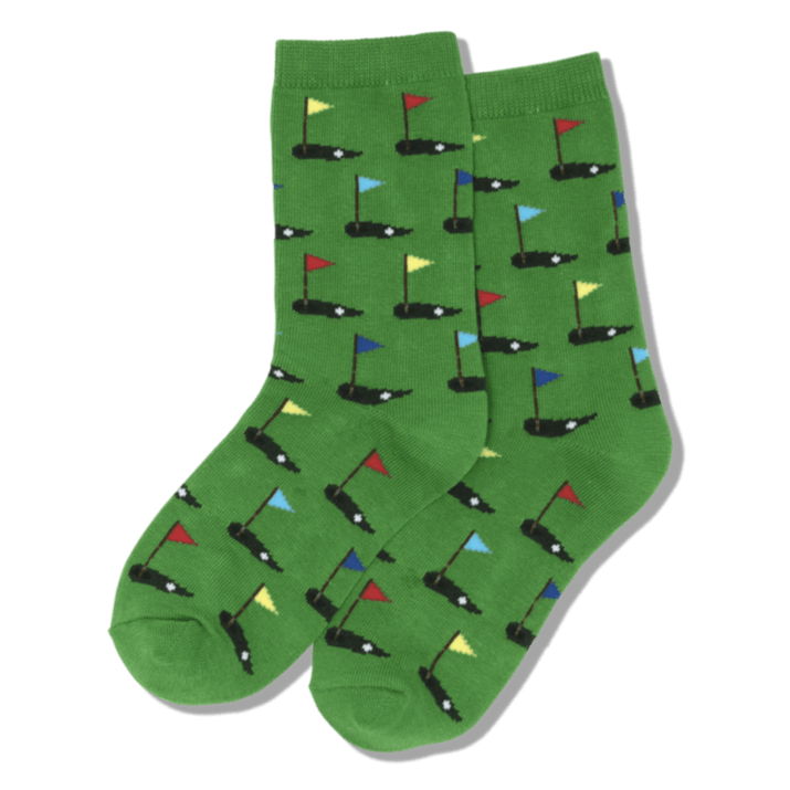 Golf Kids Crew Sock Green
