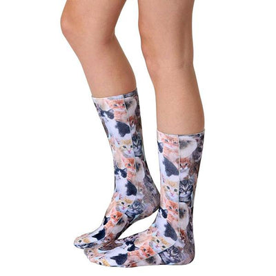 Kitty All Over Socks Unisex Crew Sock