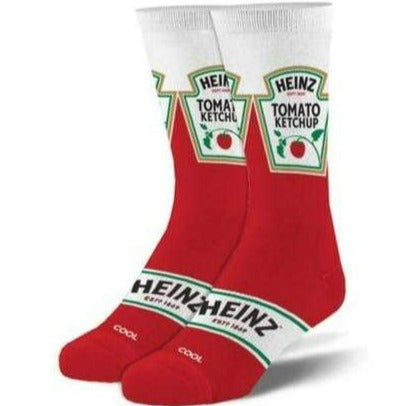 Heinz Ketchup Men's Crew Sock Red