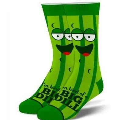 Kind Of A Big Dill Men's Crew Sock Green