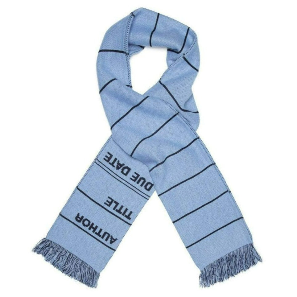 Library Card Scarf Blue