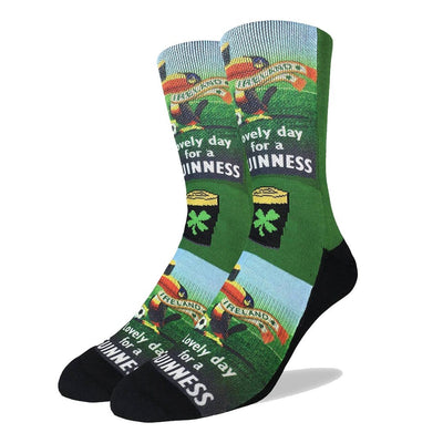 Lovely Day For A Guinness Socks Men's Active Fit Crew Sock