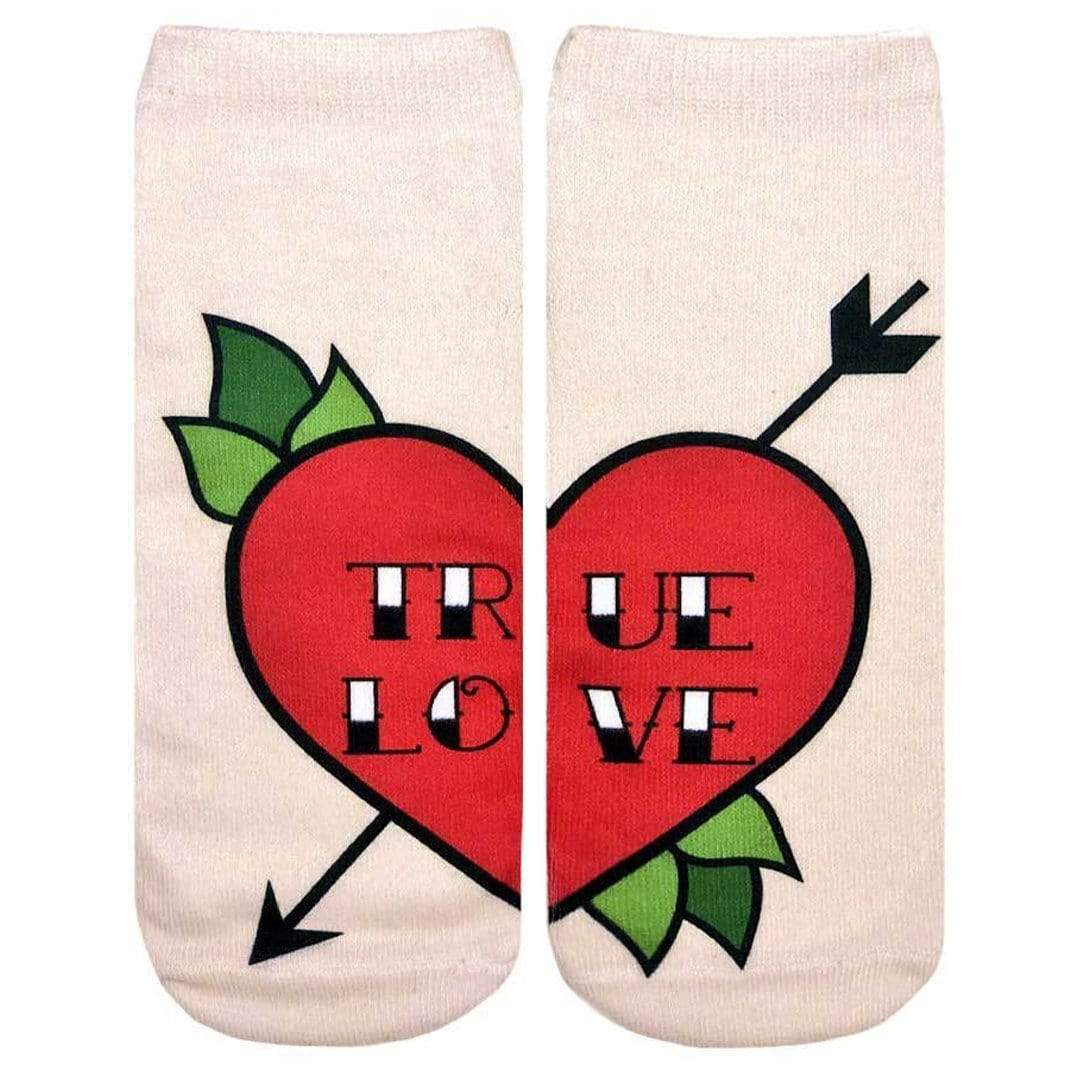 Love Tattoo Unisex Ankle Sock Tan