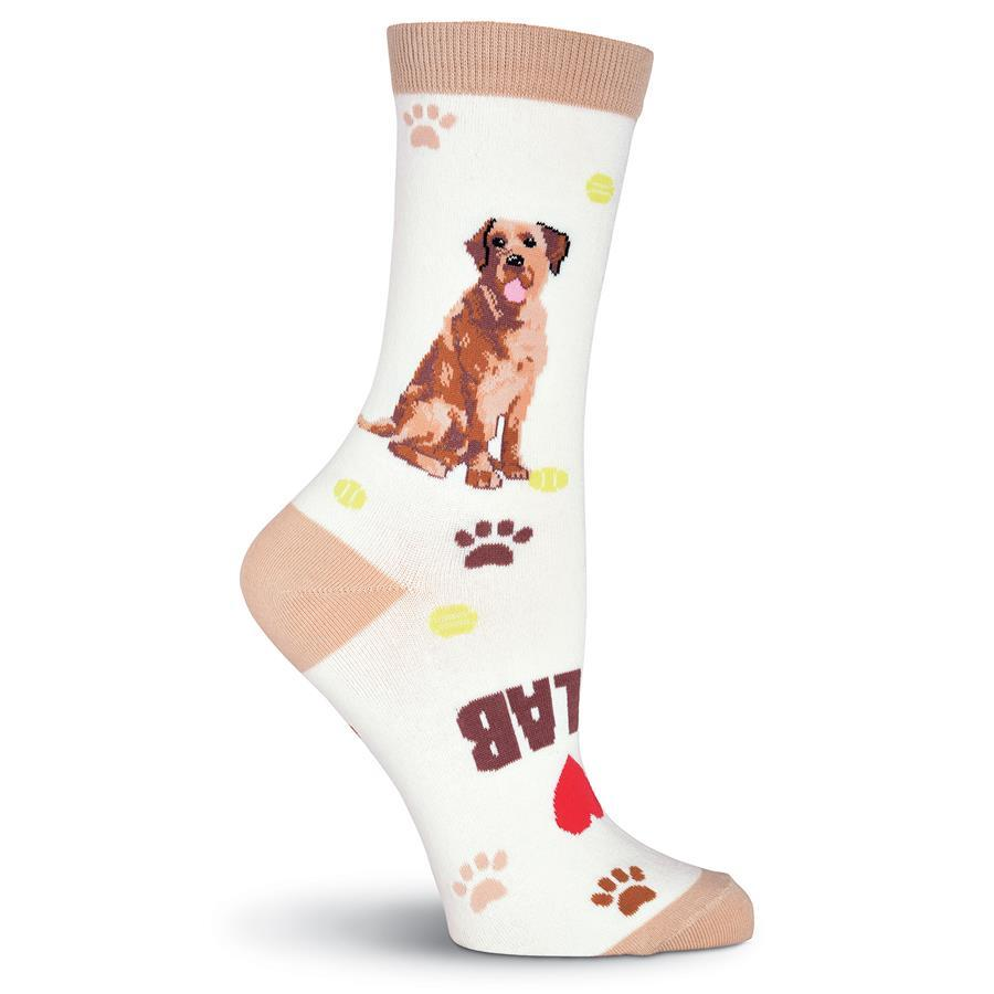 I Love Labradors Socks -- Front Right