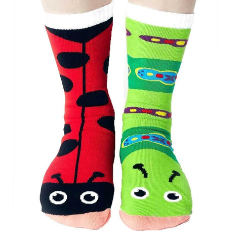 5d9482446 Ladybug And Caterpillar Socks Women s Mismatched Sock