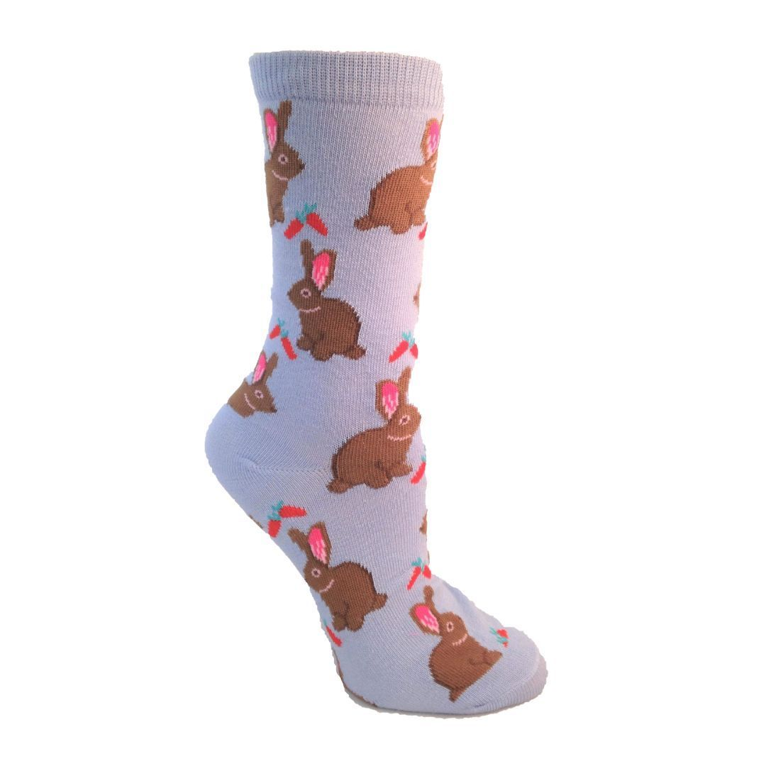 hungry bunny socks crew socks for women