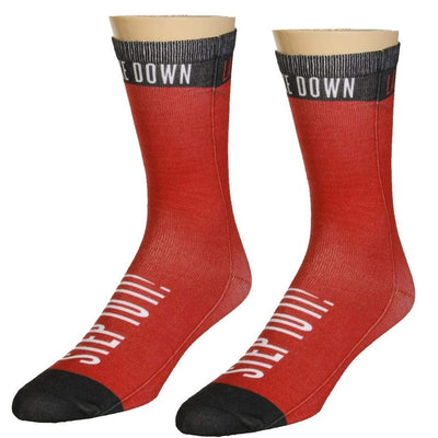Law Syndrome Socks Unisex Crew Sock Red
