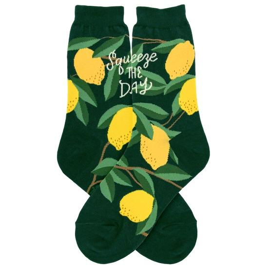 Lemons Socks Women's Crew Sock