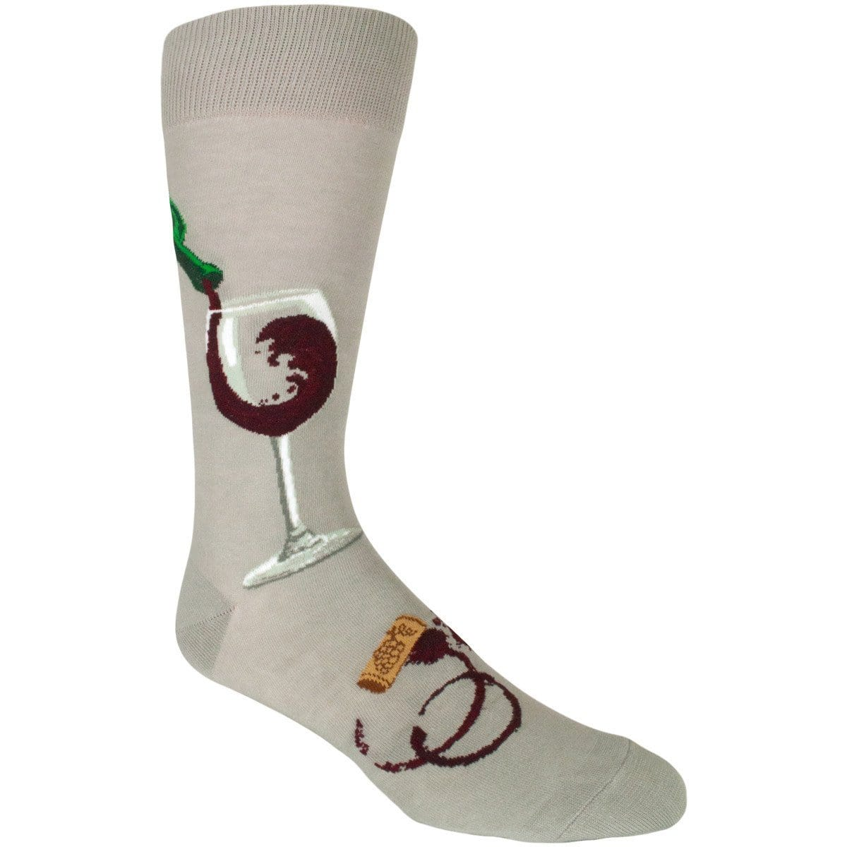 Like A Fine Wine Socks Men's Crew Sock gray