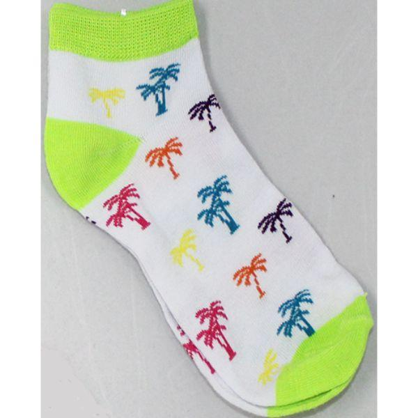 Palm Trees - Women's Ankle Sock lime green