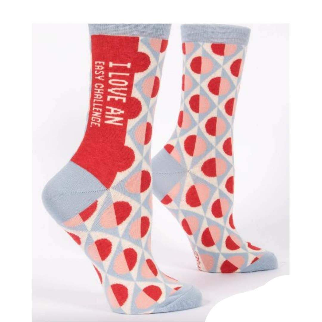Love An Easy Challenge Women's Crew Sock Red