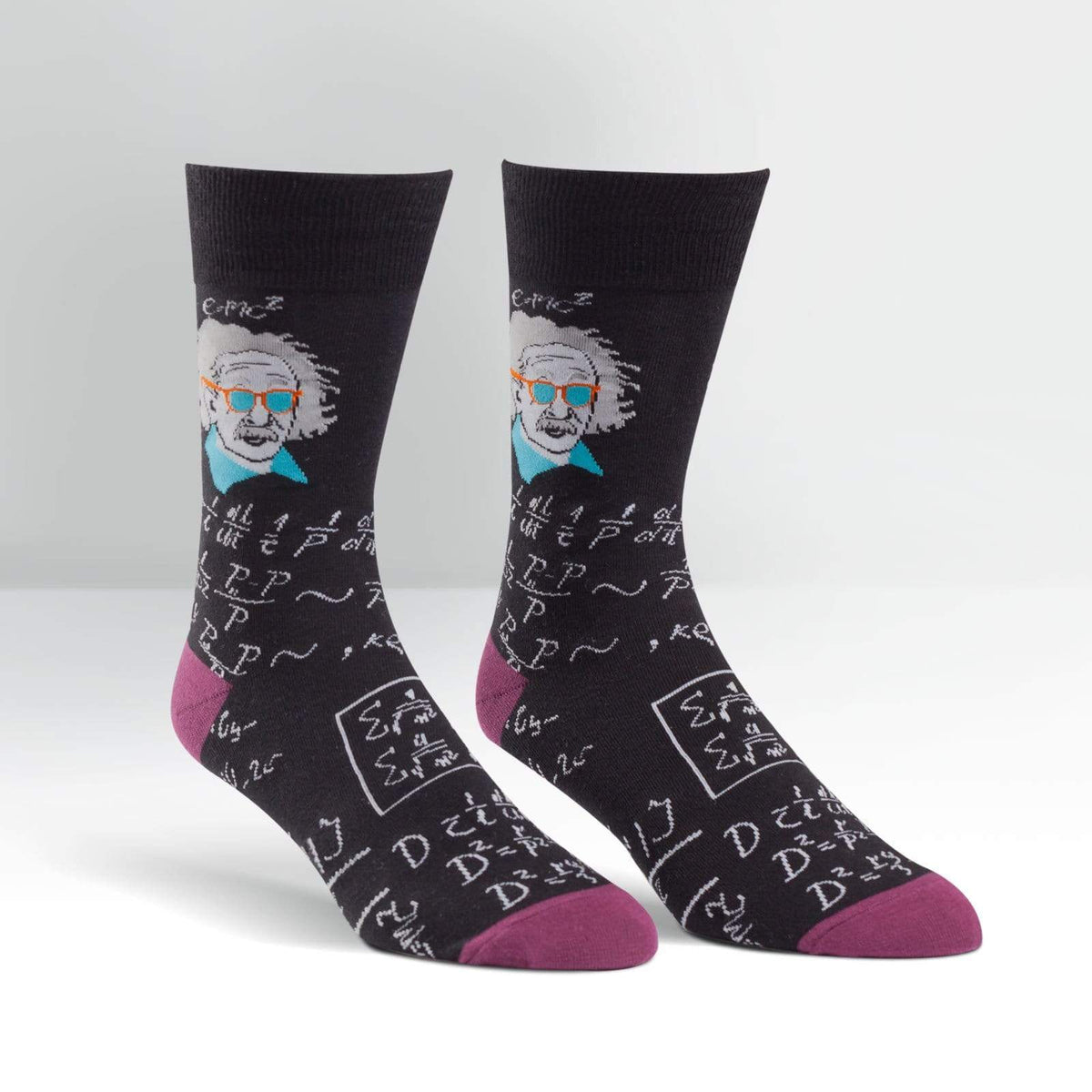Relatively Cool Socks Men's Crew Sock Black