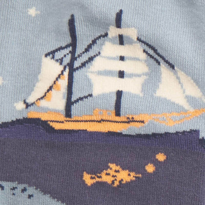 Sea Voyage Socks -- Close Up