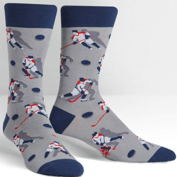 Mighty Pucks Socks Men's Crew Sock Men's / Grey