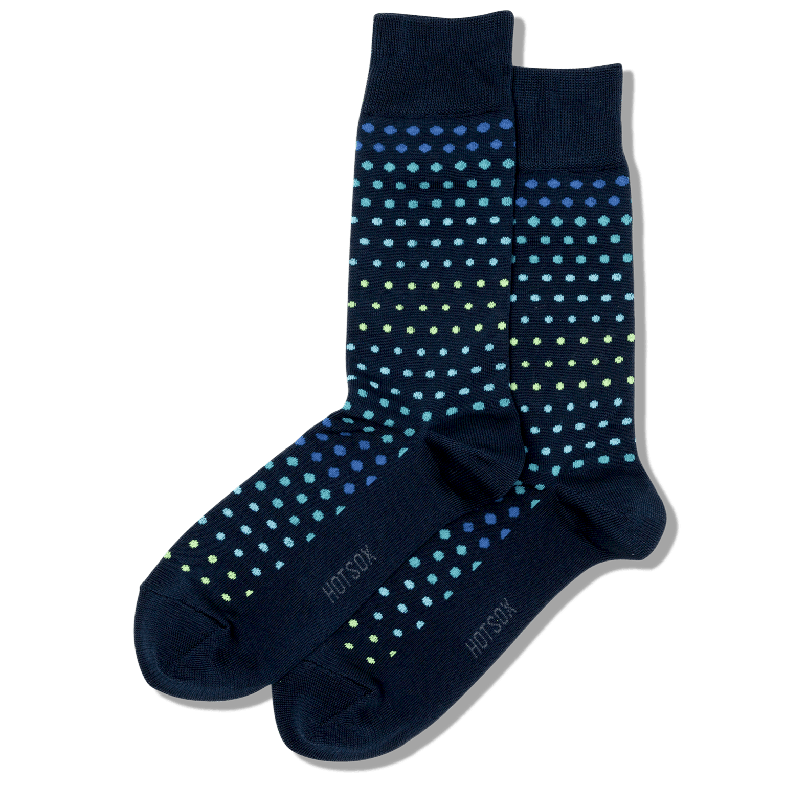 Variegated Dot Slack Socks Men's Crew Sock Navy