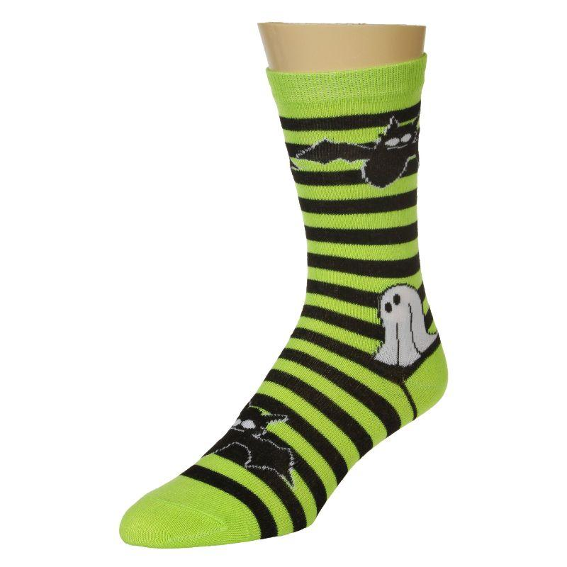 ghost and bat socks crew socks for women