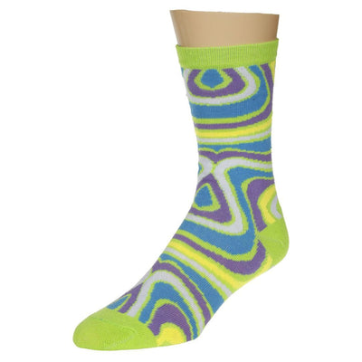 Green Swirl Patterned Socks