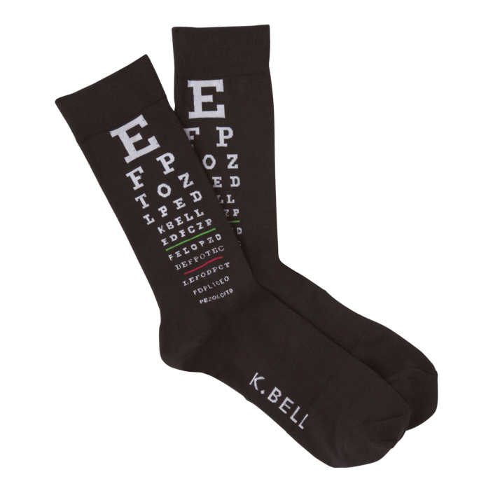 Eye Chart Men's Crew Socks