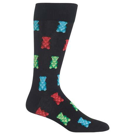 Gummy Bear Men's Crew Socks Black