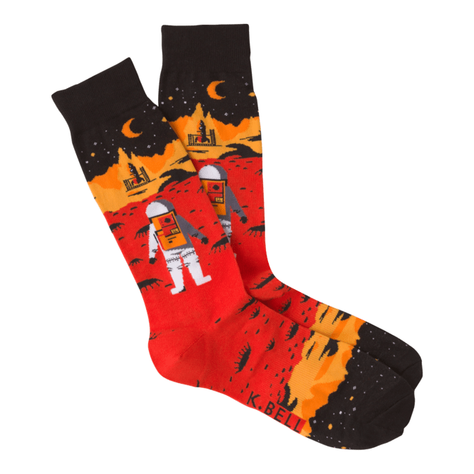 Red Planet Men's Crew Socks Red