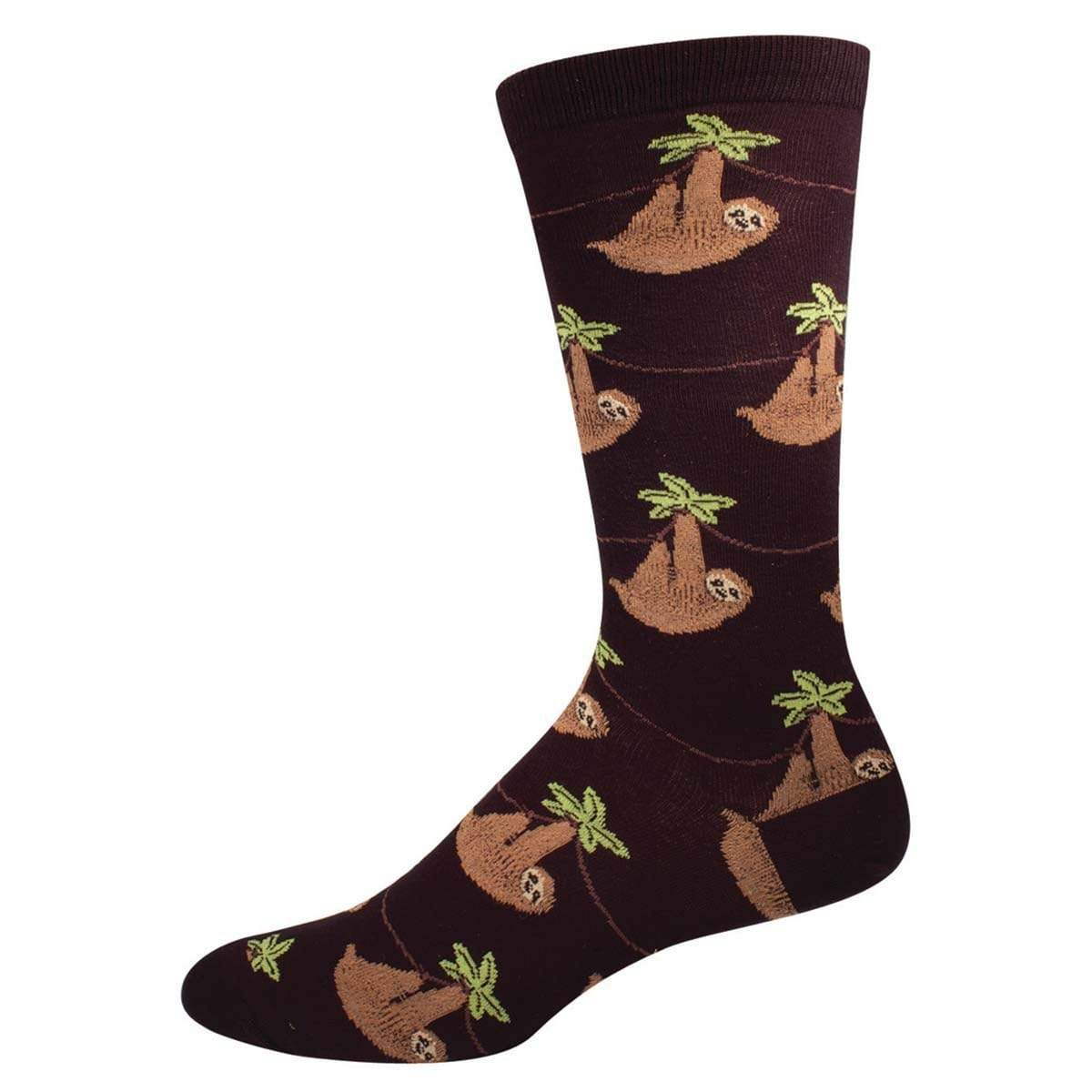 Sloth Men's Crew Sock Black