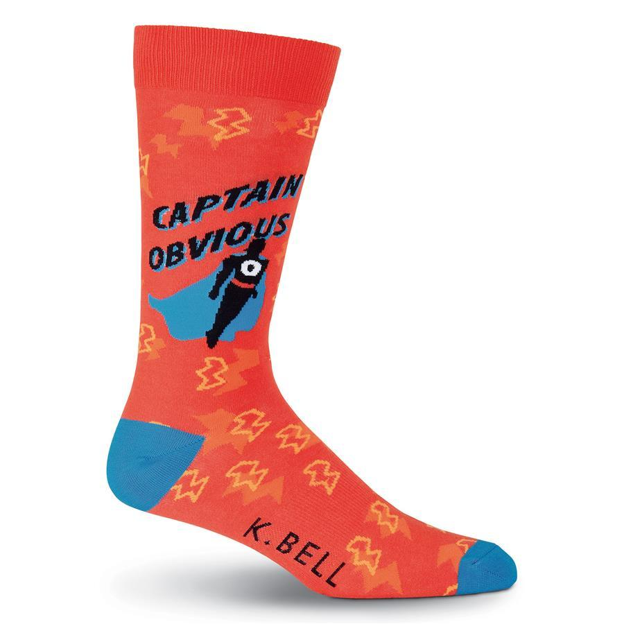 Men's Captain Obvious Crew Socks Red