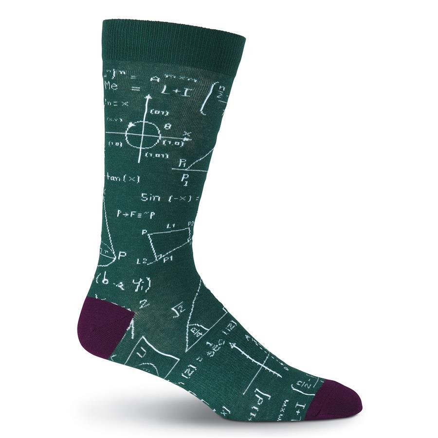 Equations Socks Men's Crew Sock Green