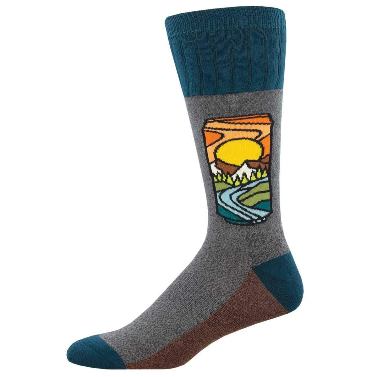 Brew With a View Men's Boot Socks Men's / Grey