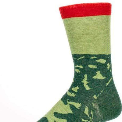 Dad Jokes Socks Men's Crew Sock green