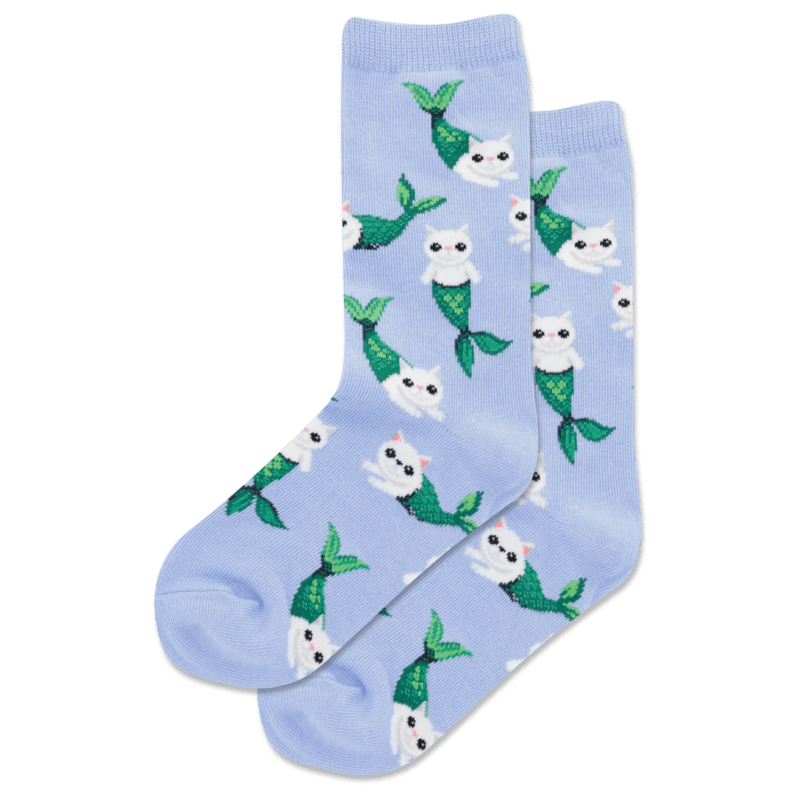 Mermaid Cat Kids Crew Sock