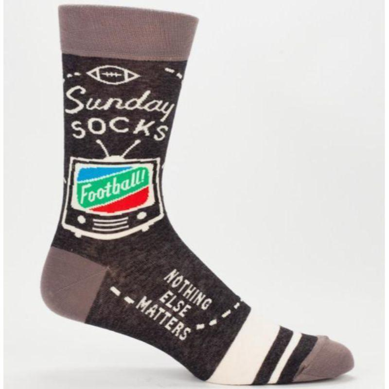 Sunday Football Socks Men's Crew Sock brown