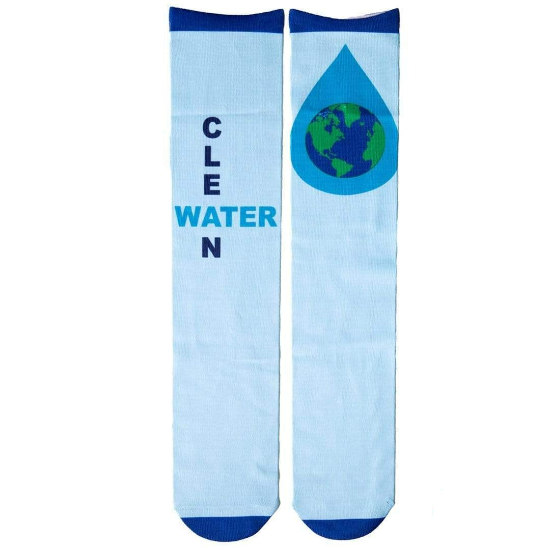 "Microsoft ""Water1st"" Charity Sock Light Blue"