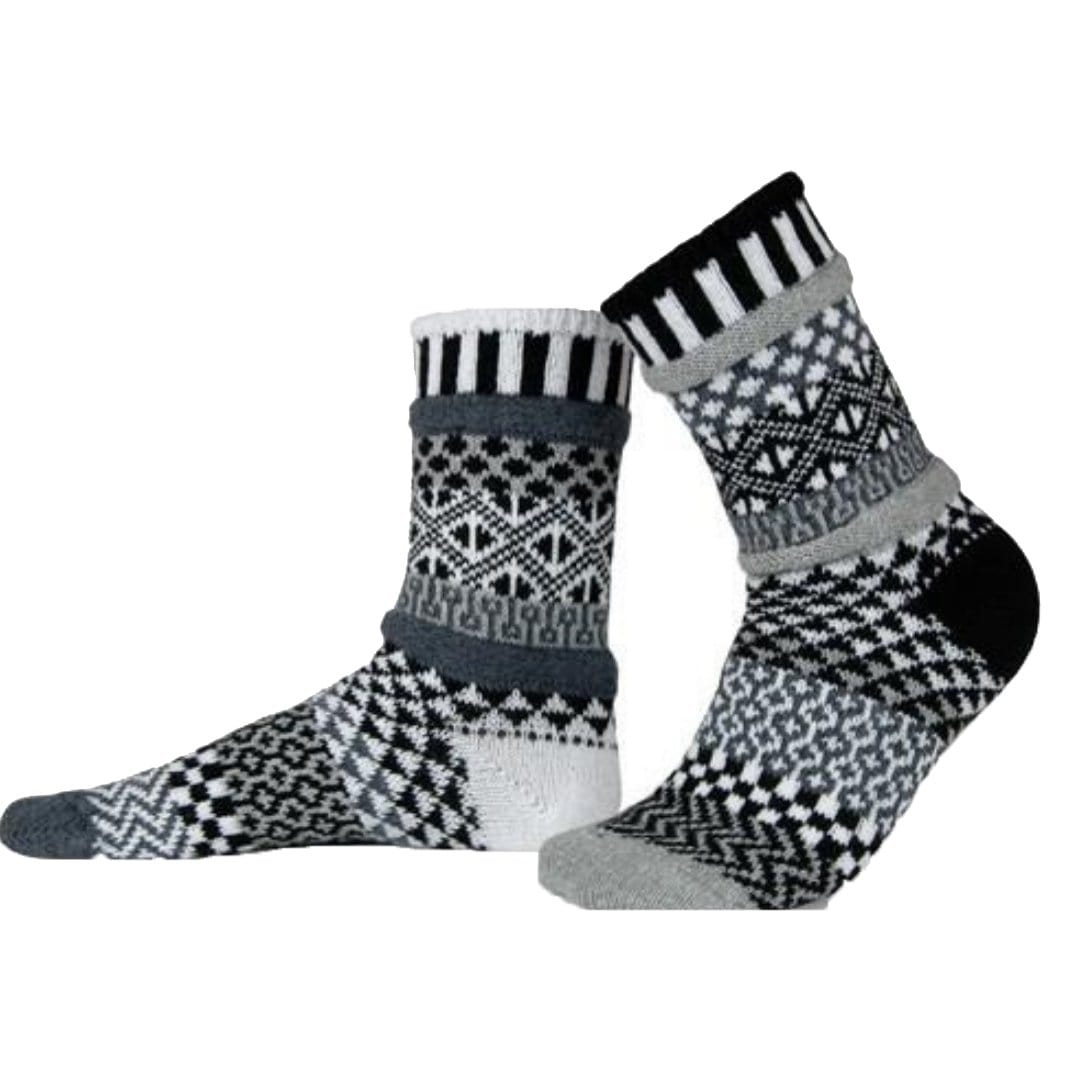 Midnight Cotton Crew Socks Small / Black