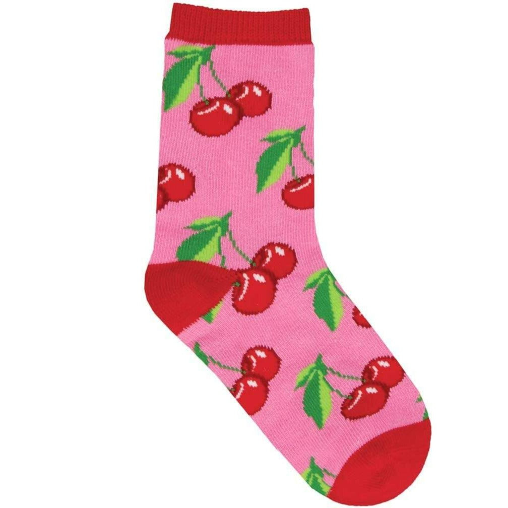 Mon Cherry Amour Kid's Crew Sock
