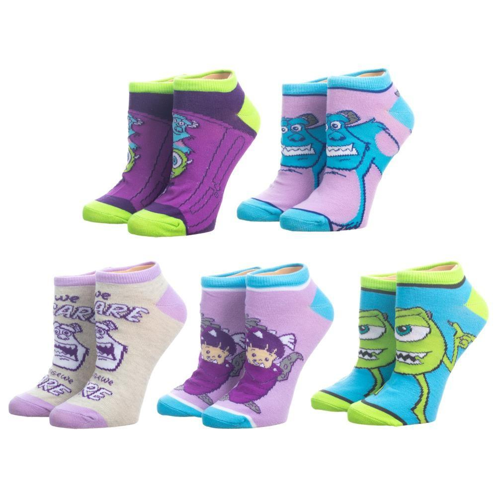 Monsters Inc. 5 Pair Ankle Socks