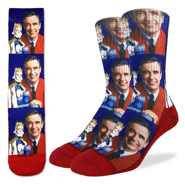 Mister Rogers Socks - Active Fit Crew Socks for Men
