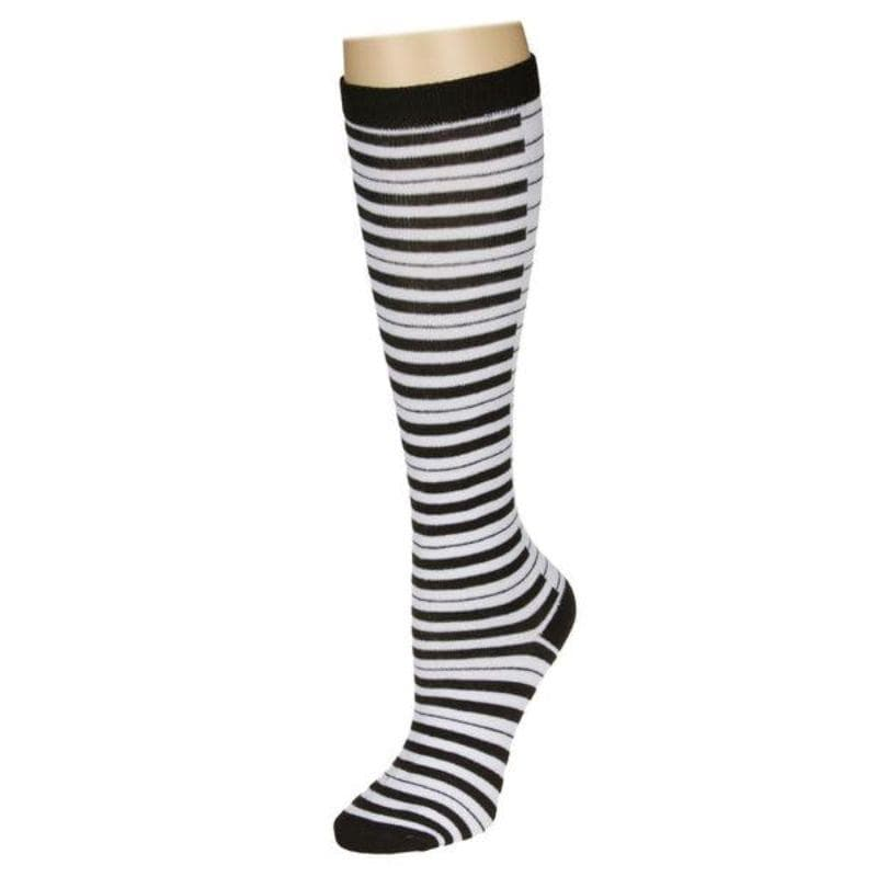 Piano Keyboard Socks Women's Knee High Sock Black