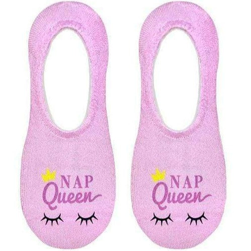 Nap Queen Liner Sock No Show Socks Pink