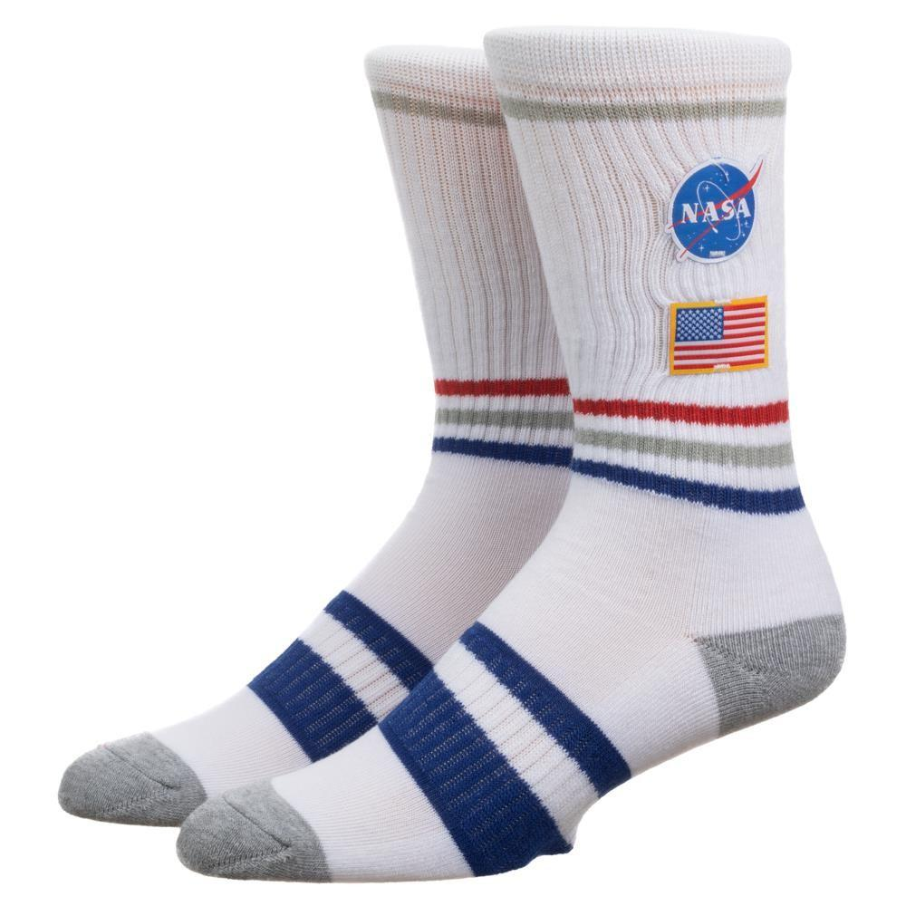 NASA Patch Crew Sock White