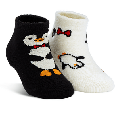 Naaman's Penguins Fuzzy Socks Black / White / Kiddos
