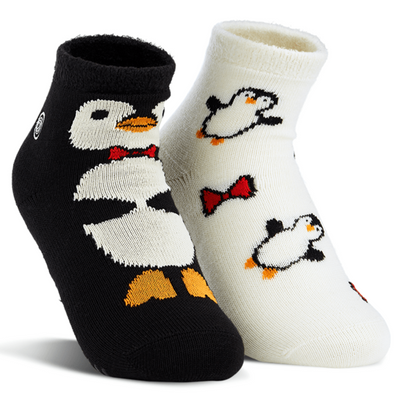 Naaman's Penguins Fuzzy Socks Black / White / Small