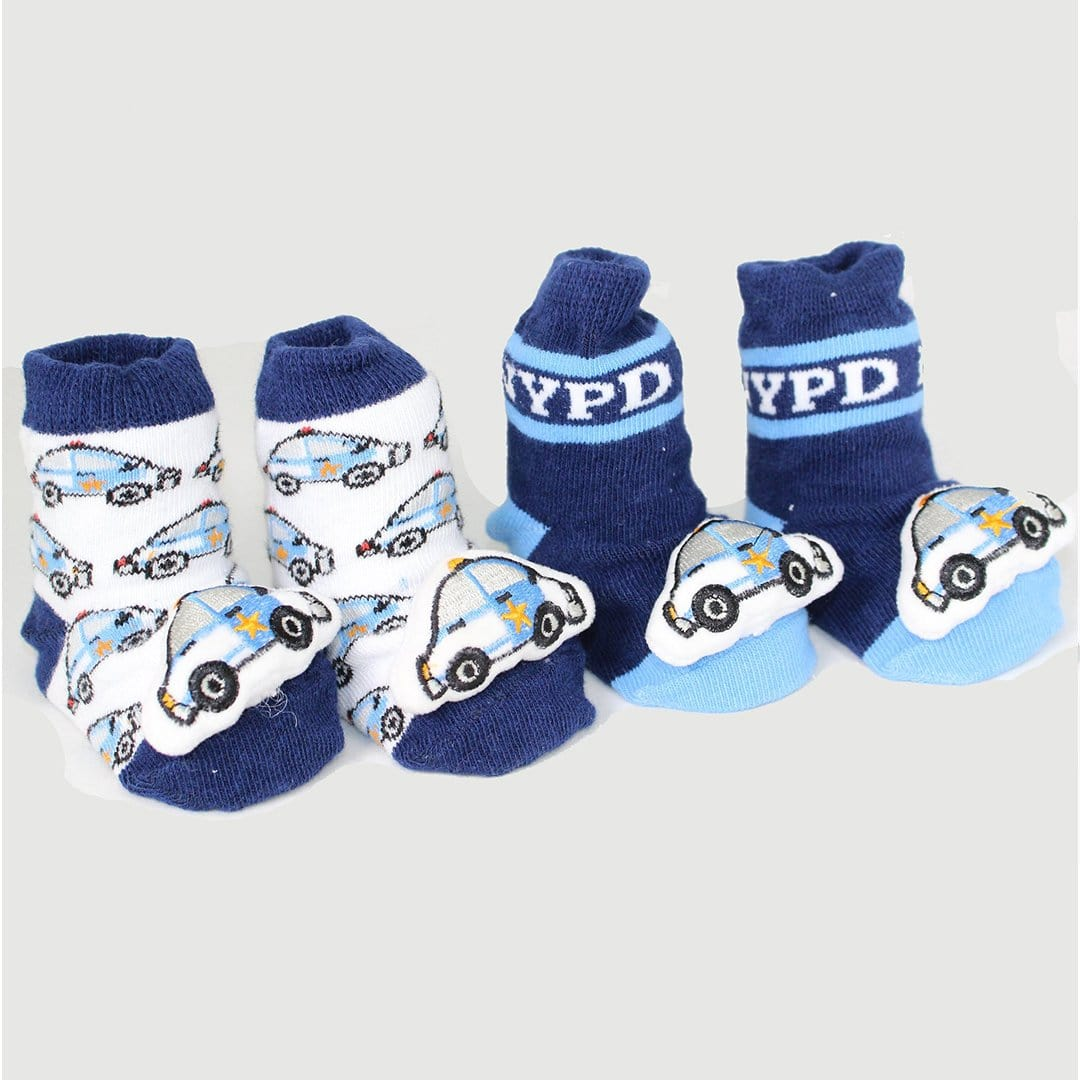 NYPD Socks Baby Rattle Sock Blue