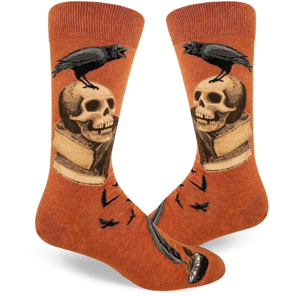 Nevermore Socks Men's Crew Sock brown