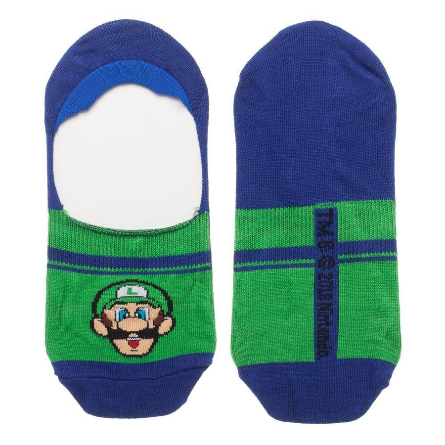 Super Mario & Luigi 2 Pack Men's Liner Socks