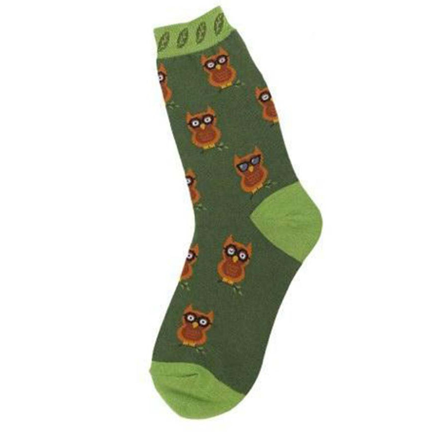 OWLS SOCKS - CREW SOCKS FOR WOMEN