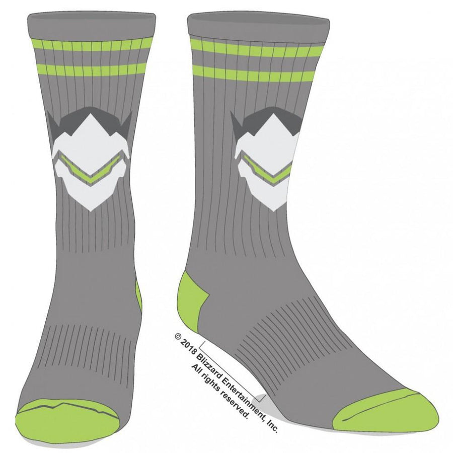 Overwatch Genji Embroidered Crew Socks for Men
