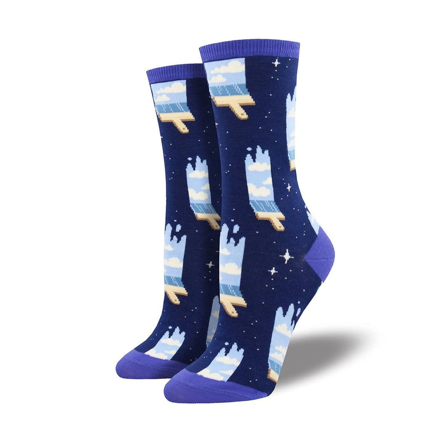 Paint the Sky Crew Socks for Women