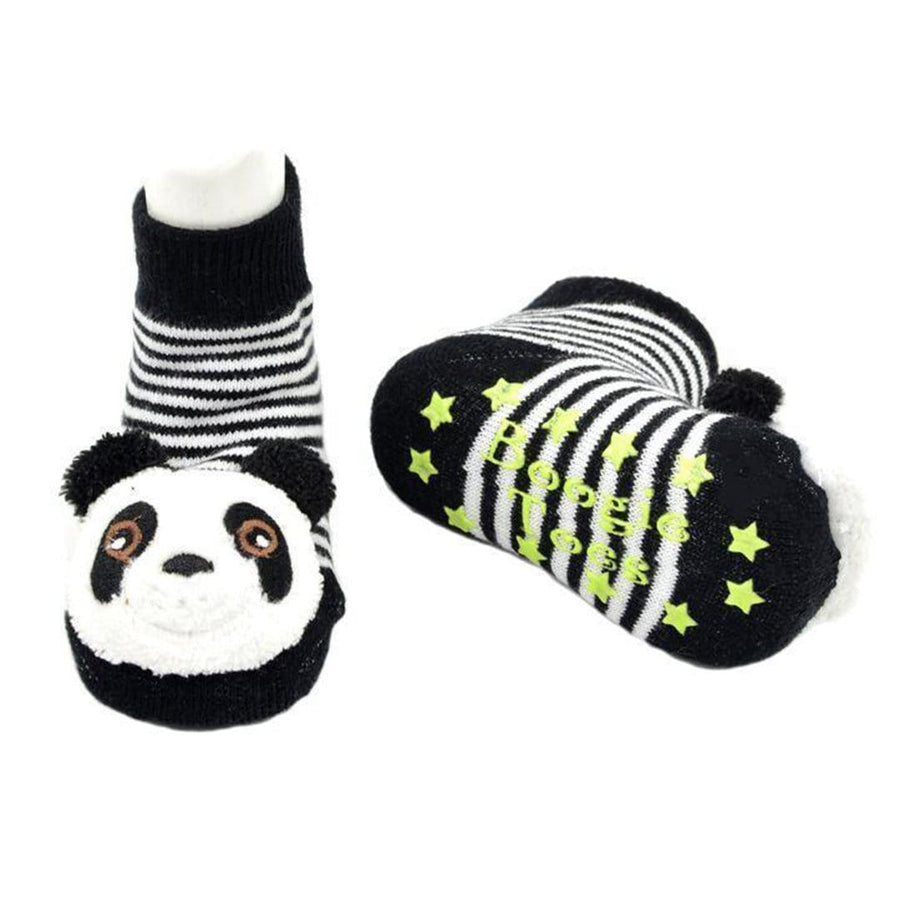 fad06438486 Panda Bear Rattle Boogie Toes - Toddler Socks